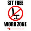 StandingDeskTopper: Sit Free Work Zone