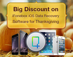 Auntec, an inventive software company, announces a big discount for its iFonebox data recovery software that allows users to recover and transfer lost data back to iOS devices, just in time for Thanksgiving. Users will receive a 30 percent discount up unt