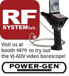 RF System Lab Video Borescope at Power Generation International