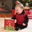 """My Very Merry Christmas"" makes a charming personalized gift for baby's first Christmas!"