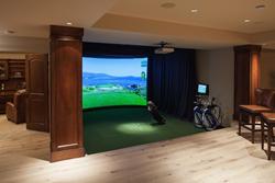 Man Cave Golf Simulator : Golf themed bedroom club on simulators ideas man cave with