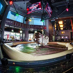 PRB Rock Bar and it's mechanical bull is great for National Finals Rodeo patrons.