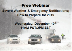 Severe Weather and Emergency Notifications: How to Prepare for 2015