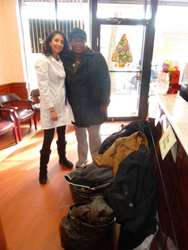 Maspeth Dentiat Dr. Khaimov (left) is hosting a second annual Coat Drive