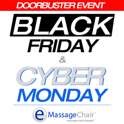 Black Friday and Cyber Monday Massage Chair Sale at Emassagechair.com