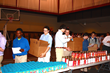 Students at Cleveland's University School packed Thanksgiving food boxes for 240 Cleveland families.