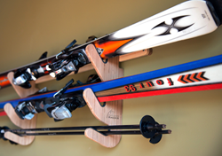 Bamboo Ski Rack