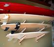 Bamboo Surfboard Display