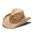Metallic Western Straw Hat by Physician Endorsed at SolEscapes.com