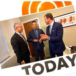 Dr. David Samadi, MD with Carson Daly and Willie Geist