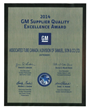 Associated Tube Group Awarded GM Supplier Quality Excellence Award for...