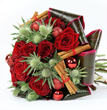 Winter flowers delivery London. Seasonal flowers by top London florist and online gifts UK shop. Christmas flowers delivery in London, Christmas flower arrangements delivered online. Decorated Christmas trees delivery in London UK.