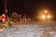 Polar Express pulls into Santa's village in Belington (WV) City Park