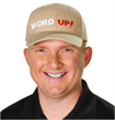 Word Up Hat on founder Jon LaClare