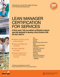 Lean and six sigma training for services