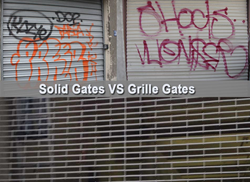 Solid, rolldown security gates around the city may become a thing of the past - but not overnight.