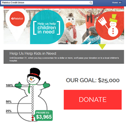 Patelco Credit Union uses CafeGive Social tool to raise money for CU4Kids