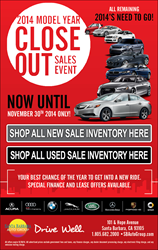 2014 Car Model Year Close Out Sale