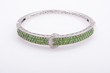 Russian Diopside and Diamond Bangle