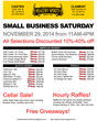 List of Deals for Small Business Saturday