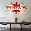 Let It Snow Wall Decal from Trendy Wall Designs