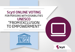 Scytl online voting - enfranchising persons with disabilities