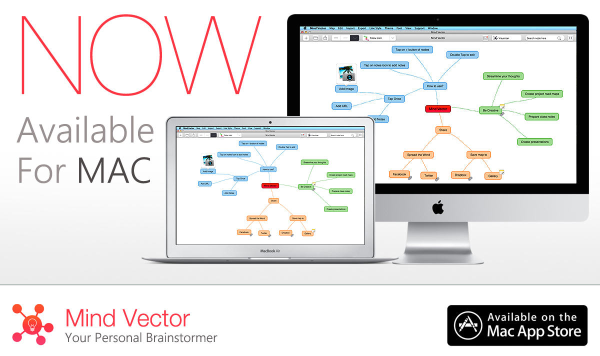 mind vector now on mac - Mind Map App For Mac