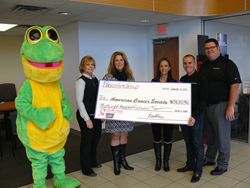 Preston Automotive Group presents donation to American Cancer Society