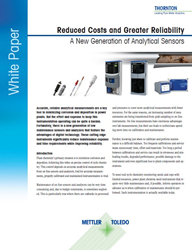 "A new white paper from METTLER TOLEDO, ""Reduced Costs and Greater Reliability: A New Generation of Analytical Sensors."""
