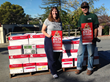 Sharon Levin from Redwood City donated thousands of books to the Gift of Reading book drive