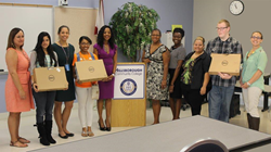 First-year Hillsborough Community College students receive laptops to encourage their ongoing success and participation in the UACDC's STEPS for Success program.