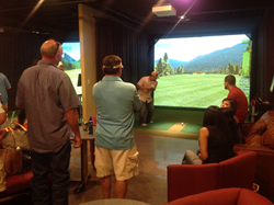 High Definition Golf Simulator at Phillips Event Center