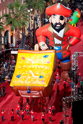 60ft Tall Captain Tom Bristol, appearing November 30th, to the Hollywood Christmas Parade.