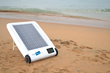 The Desolenator at the beach, where it can transform sea-water into clean drinking water