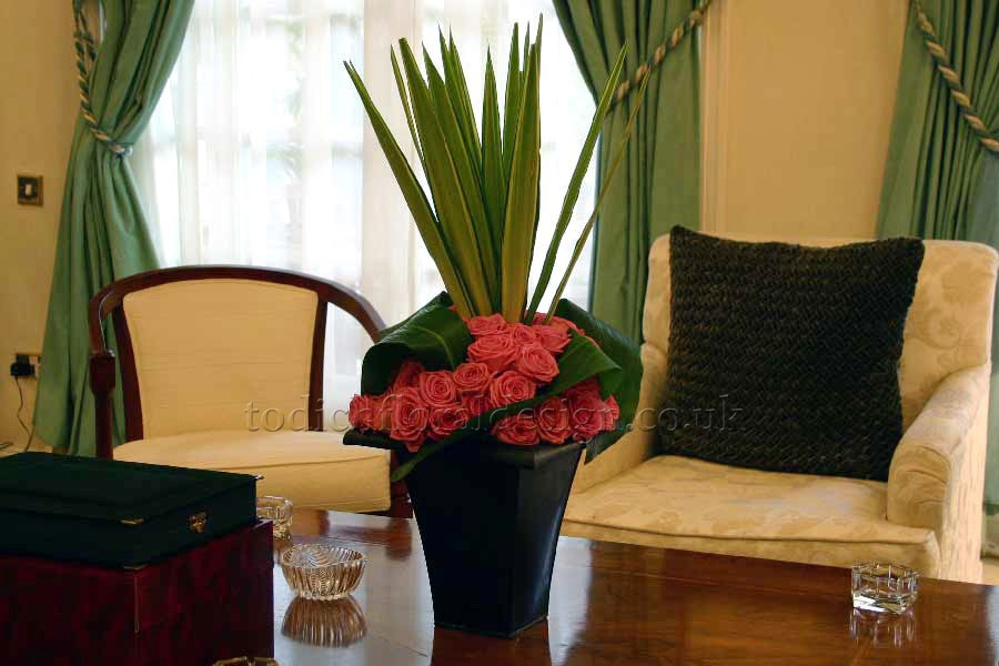 Flower Arrangements For A Hotel Reception Area