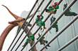 Elves rappel off the roof of The Children's Museum of Indianapolis