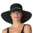 SolEscapes Black Straw Hat