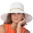 White Packable Straw Hat SolEscapes