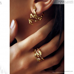 Mouvant Collection Earrings and Ring by Fabio Brazil & Henrique Murgel