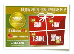 Holiday dental specials