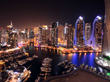 Night view at Dubai Marina