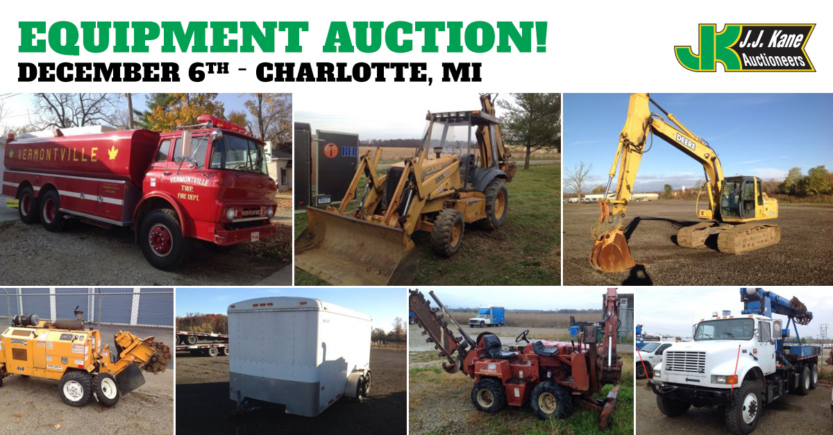 Car Auctions In Michigan >> Public Auto and Equipment Auction, Charlotte, MI, December