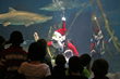 Santa Dives with Sharks at The Maritime Aquarium