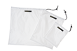 Travel Pouches—large, medium and small in white