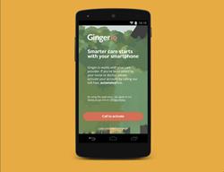 Screenshot of Ginger.io app
