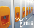 WallgateAmerica Thrii hand wash dryers installed at a school