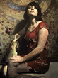 "Hollis Dunlap, ""Black Rose"", oil on panel, 30""x24"""