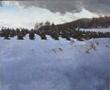 "Hollis Dunlap, ""Winter Fields"", oil on linen, 50""x60"""