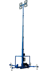 30' Telescoping Light Mast with Electric Winches for Operation and a Manual Cord Reel