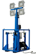 Skid Mount Five Stage Electric Mast Equipped with Four 150 Watt LED Light Fixtures